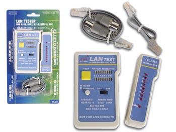 Testeur lan pour rj45 rj12 rj11 rj10 bnc - Testeur cable rj45 ...